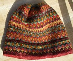 Handspun Waterville Hat via Flikr ~ click thru to Pats knitting weaving blog and you will find great info and pics, plus link to Webs for pattern