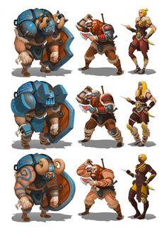 ArtStation - Boom Boom Barbarian character concepts, Moh Z. Viking Character, Comic Character, Game Character, Character Concept, Concept Art, Character Development, Character Design References, Fantasy Characters, Cartoon Characters