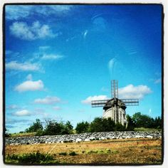 Fårö, Gotland, Sweden Vertical Windmill, Places Around The World, Around The Worlds, 12th Century, Le Moulin, Windmills, Awesome, Amazing, Vikings