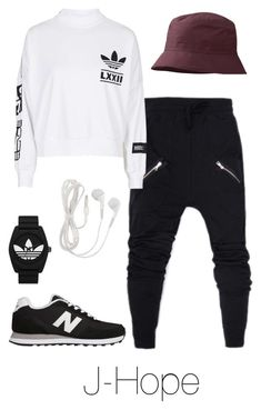 """J-Hope Inspired"" by btsoutfits ❤ liked on Polyvore featuring adidas, New Balance, Outdoor Research and adidas Originals"
