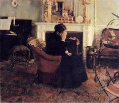 Listening to Schumann - Fernand Khnopff