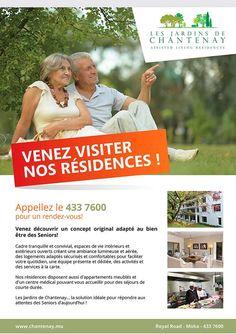 Les Jardins de Chantenay - Venez visiter nos résidences. Tél: 433 7600