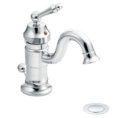 Moen�Waterhill Chrome 1-Handle Single Hole WaterSense Labeled Bathroom Sink Faucet (Drain Included)