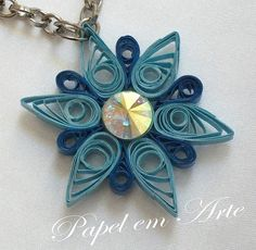 Quilled pendant for a necklace