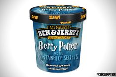 I so wish this was a flavor - can you imagine strawberry ice cream with chocolate frogs?  Yummm.