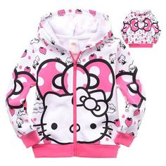 💝Hoodie Sweatshirt with Zipper for Girls Hello Kitty Long Sleeve💝  Available in 2 Lovely Styles!!! Tag Dad, Uncles or Grandparents to get one for your sweet baby  Order Now👉👉 https://www.babies-4you.com/products/hoodie-for-girls-cartoon-long-sleeve #KidsOMG #cute #babies #babyfashion