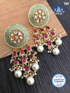 Indian Jewelry Earrings, Indian Jewelry Sets, Silver Jewellery Indian, Jewelry Design Earrings, Indian Wedding Jewelry, Antique Earrings, Bridal Jewelry, Silver Earrings, Jewelery