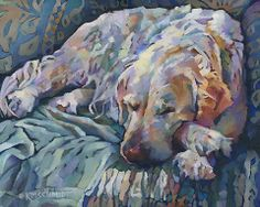 Dilly, who lives in Solihull, England. His mom commissioned me to paint him. Love those furry paws!