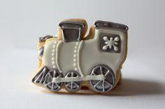 """Polar Express"" Train Cookies"