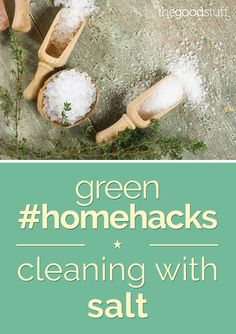Cleaning with salt can keep your home green with the use of a simple household ingredient. Instead of using harsh chemicals, try cleaning with salt to switch things up this spring.
