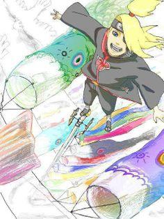 Deidara High above us Naruto Shippuden, Boruto, Deidara Akatsuki, I Ninja, Big Crush, Gaara, Favorite Person, Vocaloid, Princess Zelda