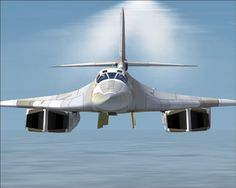 The Tu-160 Blackjack is the main bomber force in the Russian Air Force. Part of its main armament in the book is the fuel air explosive cruise missile. The airburst missile works by having two explosive charges and a container of explosive propellant. The first detonation releases the gaseous fuel from the container. The second explosions is delayed to give the gas enough time to spread. When the second charge detonates, the air is essentially set on fire due to the fuel in the air.