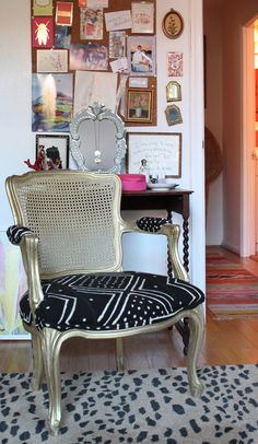 BEFORE & AFTER: MUDCLOTH CHAIR - The Pursuit of Style