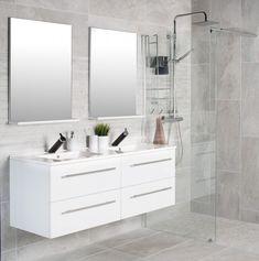 Klikk for zoom Basement Inspiration, Double Vanity, Beach House, Nature, Design, Home Decor, Bathroom Ideas, Dreams, Houses
