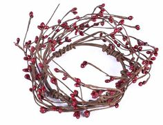 Primitive Burgundy Pip Berry Candle Ring $1.99