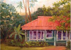"""Waimea Plantation Cottage 11"""" x 14""""  at www.kauaiartwork.com"""