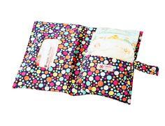 """Boubalou """"Bubbles"""" Pochette à couches en tissu - petit sac à langer en tissu à emporter partout: Amazon.fr: Bébés & Puériculture"""