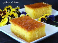 Prajitura Revani – Culoare si Arome Dessert Bars, Dessert Recipes, Romanian Desserts, Easy Sweets, Torte Cake, Sweet Treats, Good Food, Food And Drink, Baking