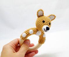 horgolt őzike csörgő / crochet doe rattle #babajáték #baby toy #csörgő #rattle #őz #doe #deer