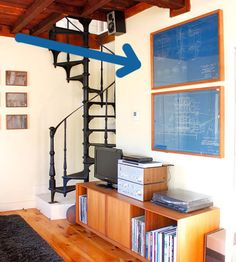 .. dynamic ways to hang artwork in the home. Blue prints... oh i have plenty of those.