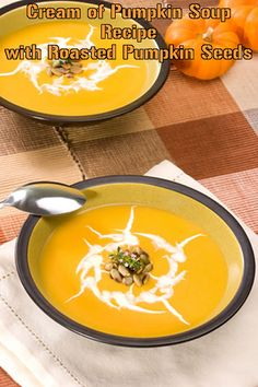 This savory pumpkin soup is thick and rich. Garnished with roasted pumpkin seeds for an elegant look, you will enjoy the herbs and spices in this tasty soup too.