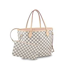 cfd6b1c3e499 Louis Vuitton Damier Azur Canvas Neverfull MM N41605 Rose Ballerine  designer handbags spring handbags handbag fashion