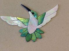 Precut Stained Glass Art Kit Female Hummingbird Mosaic Inlay Garden Stone Craft | eBay