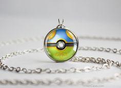 Pokemon Shiny Arcanine Themed Pokeball necklace pendant