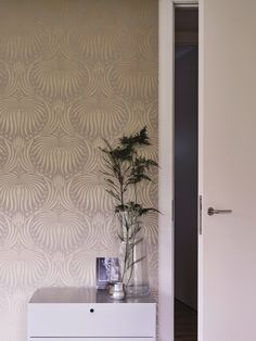 Lotus Wallpaper by Farrow & Ball Lotus Wallpaper, Metallic Wallpaper, Unique Wallpaper, Metallic Paint, Pattern Wallpaper, Farrow And Ball Living Room, Farrow And Ball Paint, Farrow Ball, Lotus Flower Design