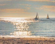 wall art home decor Fine Art Print sailing sailboat image 0 Photo Nom, Chasing Dreams, I Love The Beach, Ocean Beach, Palm Beach, Beautiful World, Simply Beautiful, Belle Photo, Beautiful Beaches