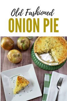 Learn to make an old fashioned Vidalia onion pie (quiche). This savory creamy on… Learn to make an old fashioned Vidalia onion pie (quiche). This savory creamy onion pie is delicious for brunch or supper. Vidalia Onion Pie Recipe, Vidalia Onions, Baked Onions, Roasted Onions, New Recipes, Cooking Recipes, Healthy Recipes, Aloo Recipes, Milk Recipes