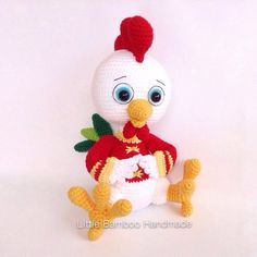 PATTERN  The Prosperity Rooster  Crochet by LittleBambooHandmade