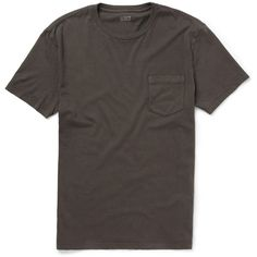 J.Crew Pocket-Front Slim-Fit Cotton T-Shirt ($30) ❤ liked on Polyvore featuring men's fashion, men's clothing, men's shirts, men's t-shirts, men, t-shirts, tops, grey, j crew mens shirts and mens cotton t shirts
