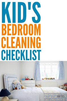 Kids Bedroom Cleaning Checklist - Get kids to clean their bedrooms without having to stand there watching them the entire time. This easy checklist for kids' rooms shows them step-by-step what to do. Be sure to take a picture when they're done so they kno Deep Cleaning Schedule, Cleaning Schedule Printable, House Cleaning Checklist, Cleaning Hacks, Clean Bedroom, Kids Bedroom, Kids Rooms, Bedroom Cleaning, Childrens Bedroom