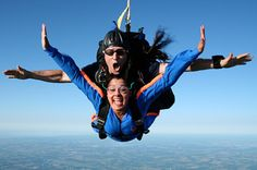 Skydiving. This just might be the number one thing I want to do. I just have to wait for my 18th birthday to be old enough XD