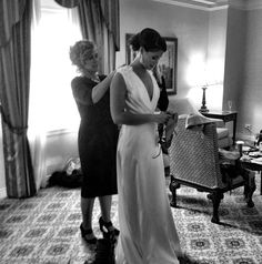 mother daughter wedding photo