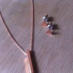 En oro rosa ¡un juego de geométricos! Hazte con él en www.plumesy.com