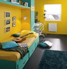 Chambre d'ado acidulée