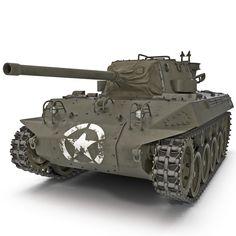 3D M18 Hellcat Wwii American - 3D Model
