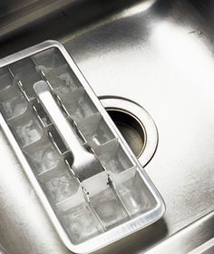Vinegar as Garbage Disposal Deodorizer  Deodorize a garbage disposal. Make vinegar ice cubes and feed them down the disposal. After grinding, run cold water through the drain.