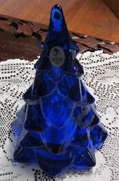 Fenton Cobalt Blue love the color, even for a Christmas tree, for a blue, gold and silver Christmas