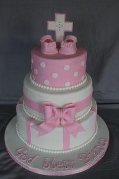 Baptism cake for a girl!