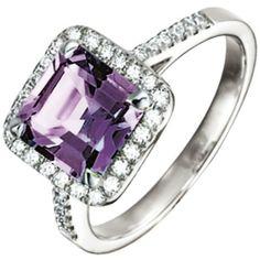 Damen-Ring 1 Amethyst 18 Karat (750) Weißgold 36 Diamant 0.34 ct. 54 (17.2) Dreambase, http://www.amazon.de/dp/B00AEERXKC/ref=cm_sw_r_pi_dp_J2kjtb06BJ1YK