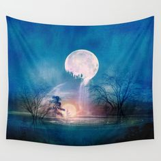 iCanvas Moon Above, Sun Below Gallery Wrapped Canvas Art Print by Viviana Gonzalez Painting Prints, Art Prints, Print Artist, Cool Artwork, Wall Tapestry, 5 D, Wrapped Canvas, Canvas Wall Art, Lgbt