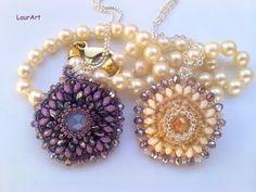 ▶ Tutorial: ciondolo Pentalux / Pentalux pendant (Superduo/Twin beads work) - YouTube