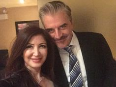 Merih Morgan with Chris Noth