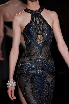 Black Versace Dress Fall 2013 Couture