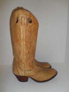 vintage cowboy boots Western US mens 8.5/ by ATELIERVINTAGESHOP