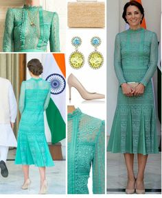 April 2016 - Royal tour in India and Bhutan - Kate's style: dress by Temperley London