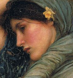 "John William Waterhouse ""Boreas"" 1903 (detail) 